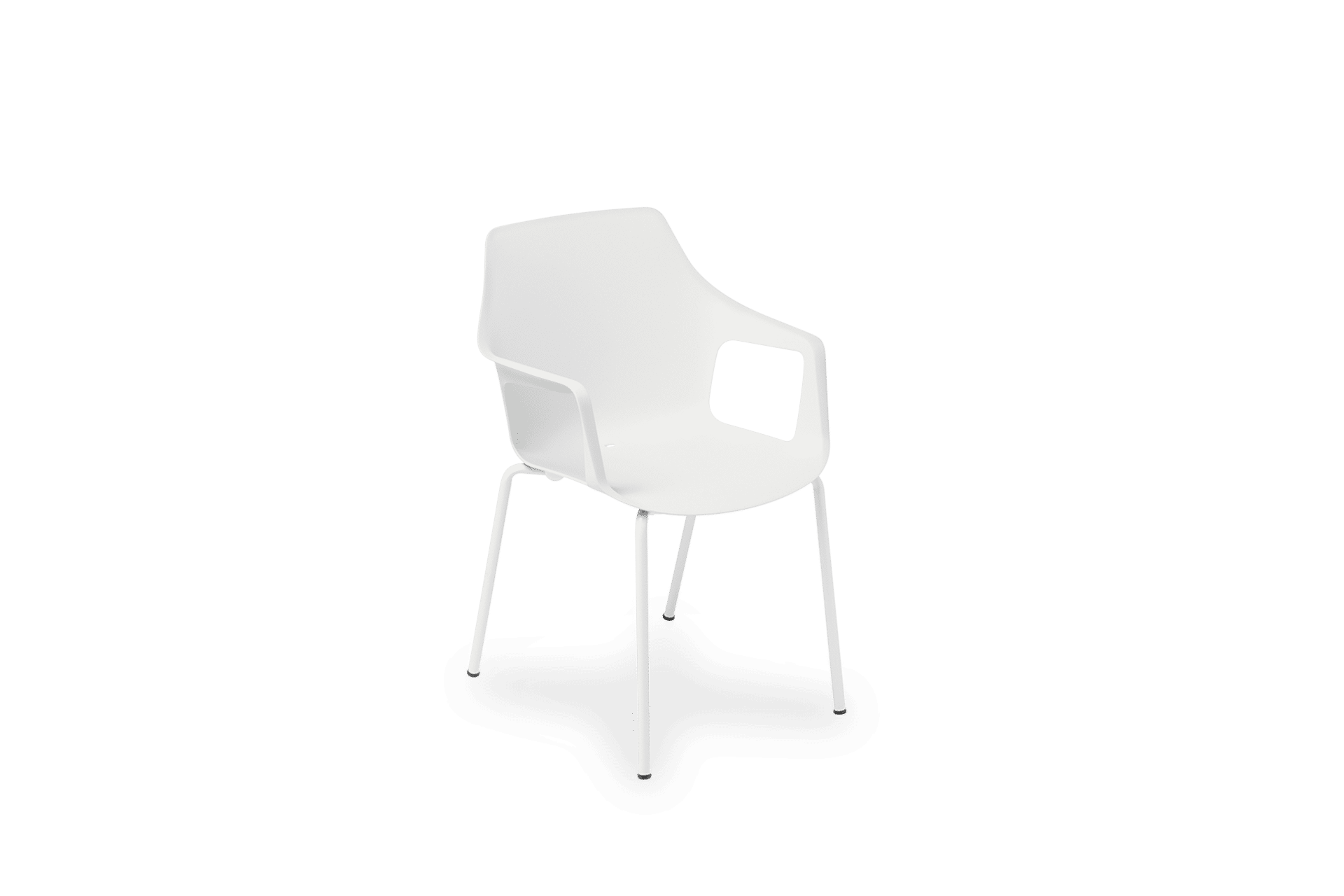 CH Vesper Armchair white on white