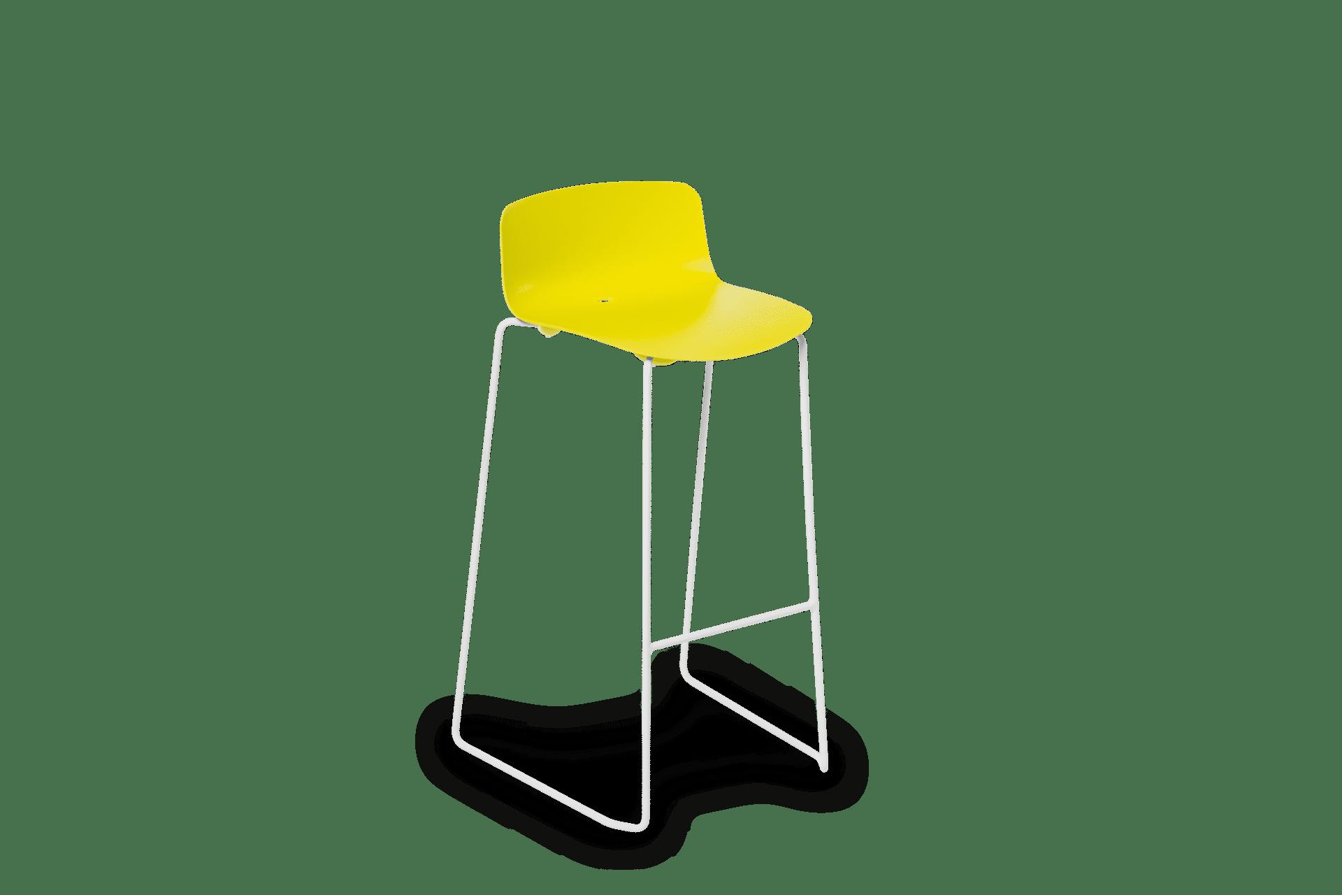 ST Vesper Stool yellow on white