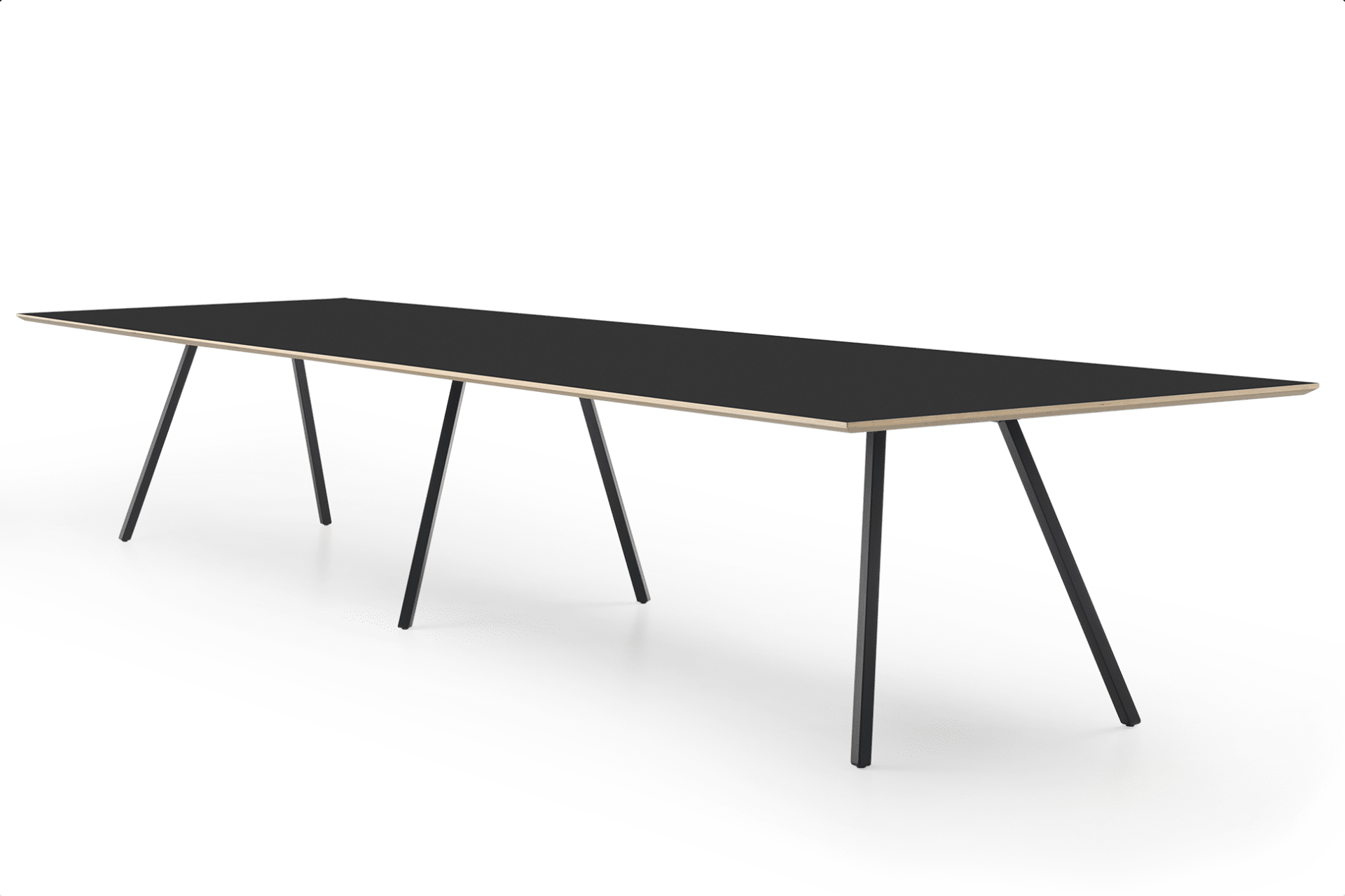 TB Poise Conference Table Black Angled