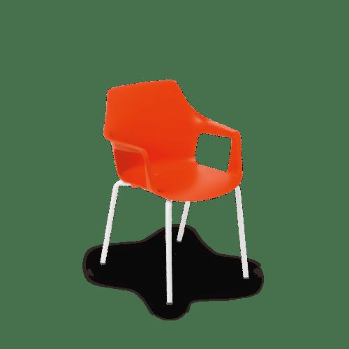 CH Vesper Armchair tangerine white frame