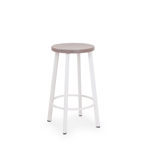 ST Astro Stool  white base ghost seat