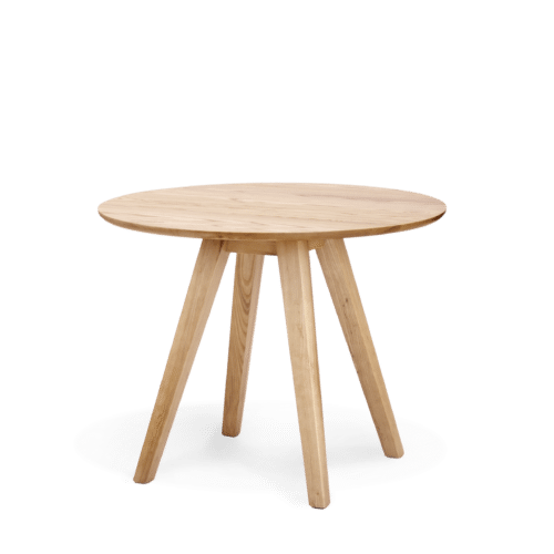TB Ikon Trestle Table Round stained clear