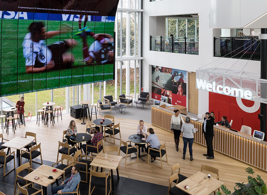 Vodafone Cafe food court hero