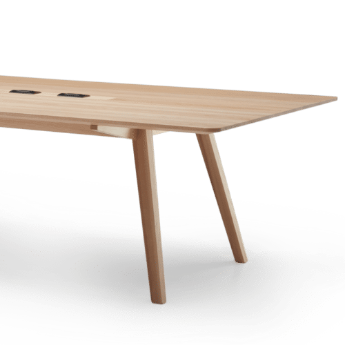 TB Ikon Conference Table Clear Flip Power Angled