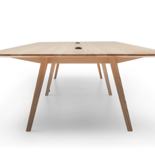 TB Ikon Conference Table Clear Flip Power End