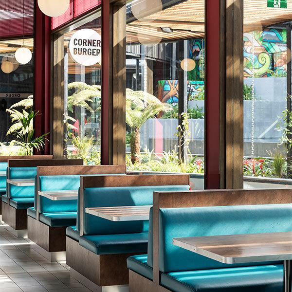 Corner Burger restaurant sitewide