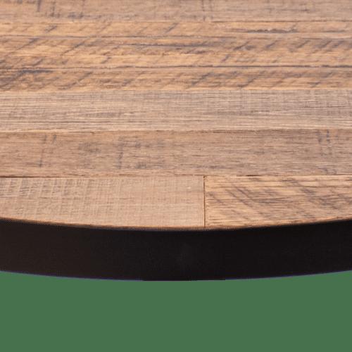TT Dobson Top black steel round edge