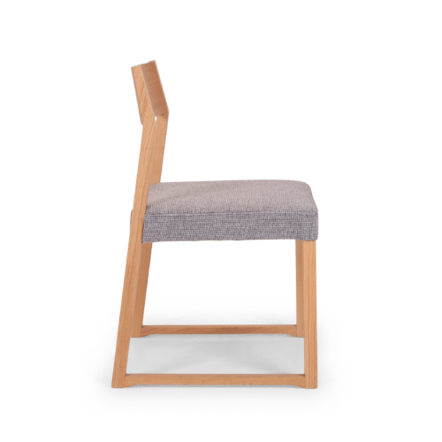 CH Linea Chair clear grey uphol side