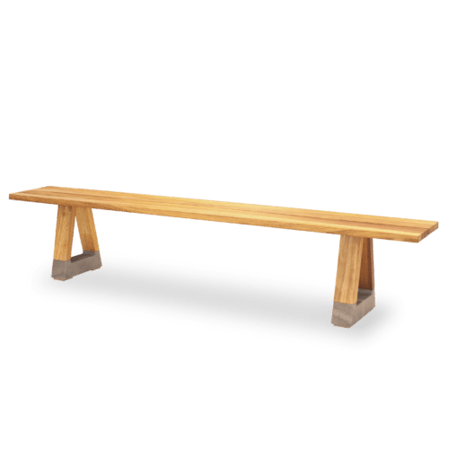 BS Slab Outdoor Bench Seat angle w