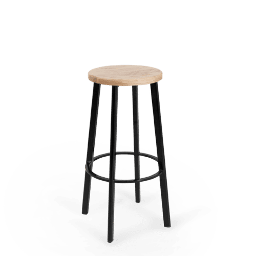 ST Astro Stool black Frame seat stained clear copy