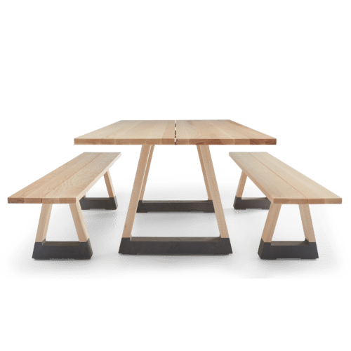 TB Slab Table and Bench Seats Clear End