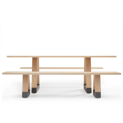 TB Slab Table and Bench Seats Clear Side
