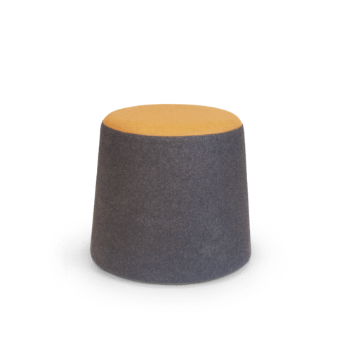 SS Pause Mobile Ottoman yellow two tone