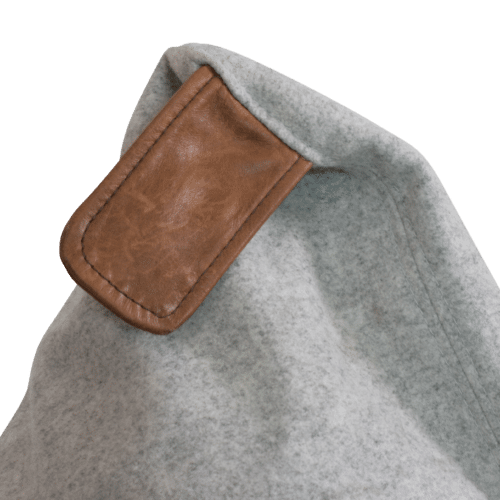 SS Trance Beanbag leather tag
