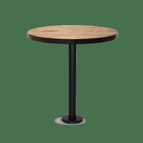 TB Dobson Top black steel round Boltdown Table black