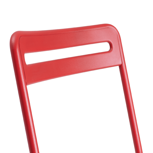 CH C Chair Slatted red detail