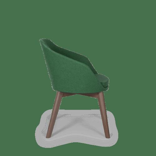 CH Annette Chair green smoke frame side