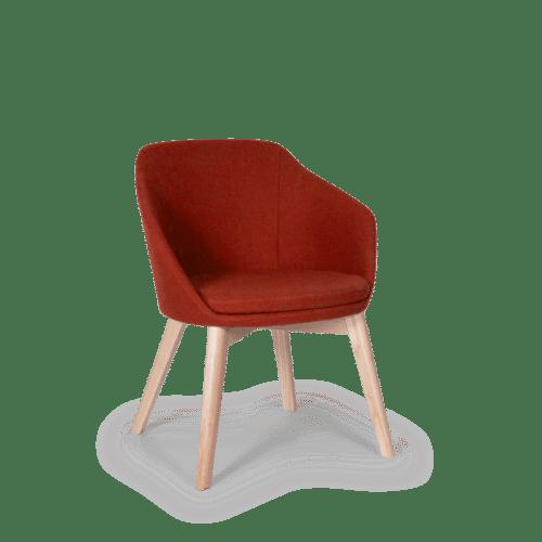 CH Annette Chair red clear frame