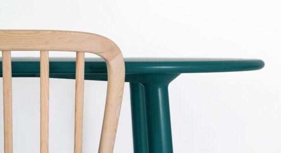 TB Dowel Table edge detail green grey