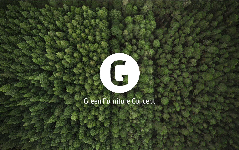 Green Furniture Logo on background