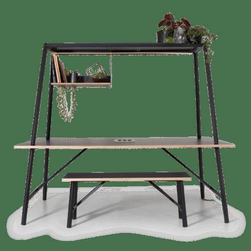 TB Diamond Canopy Table HPL Bench Seat
