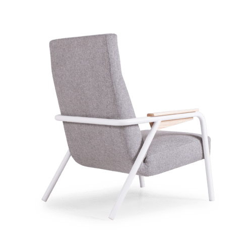 CH Lure Chair highback grey white angle
