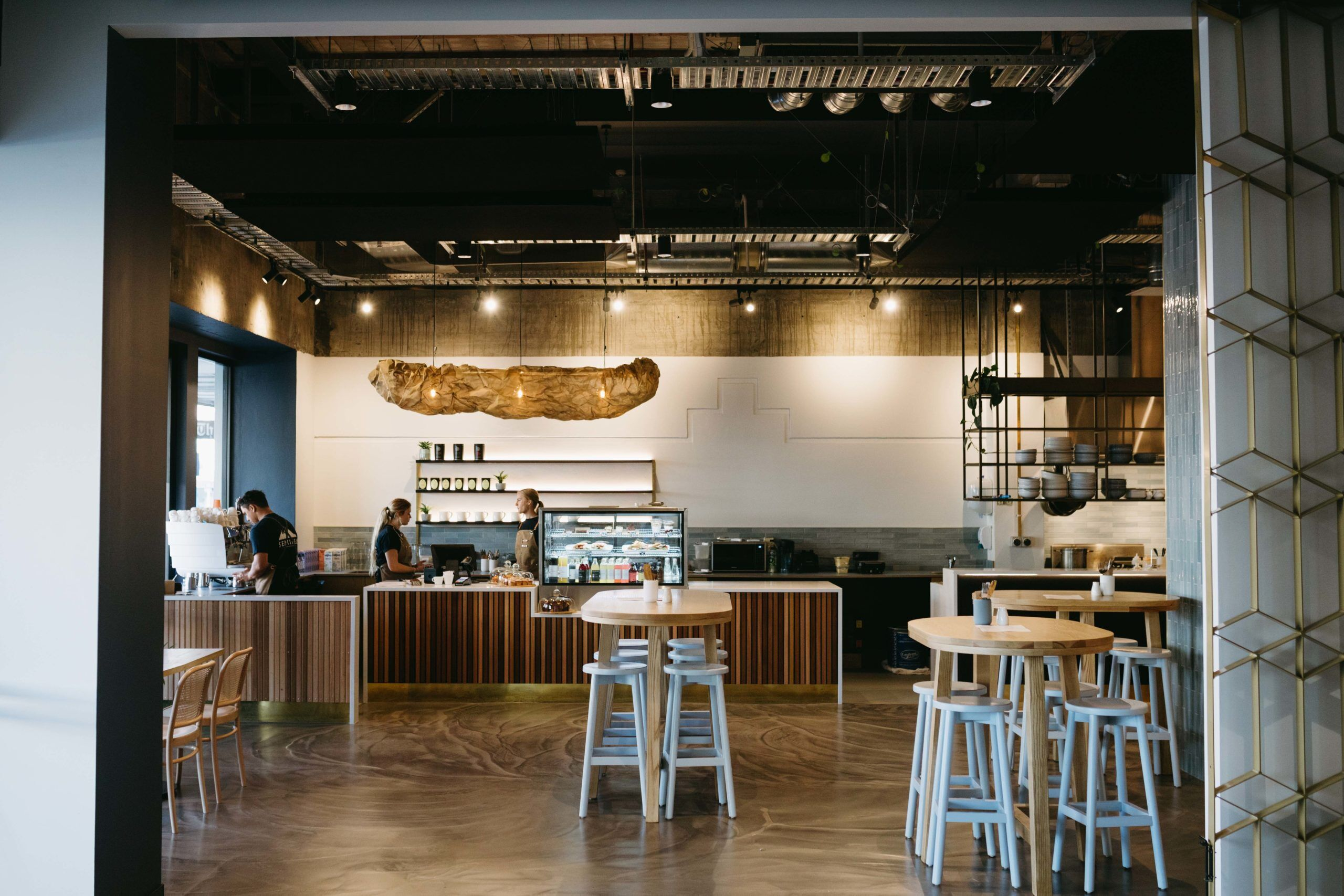 Sentinel Cafe with a bright yet moody hospitality interior fitout