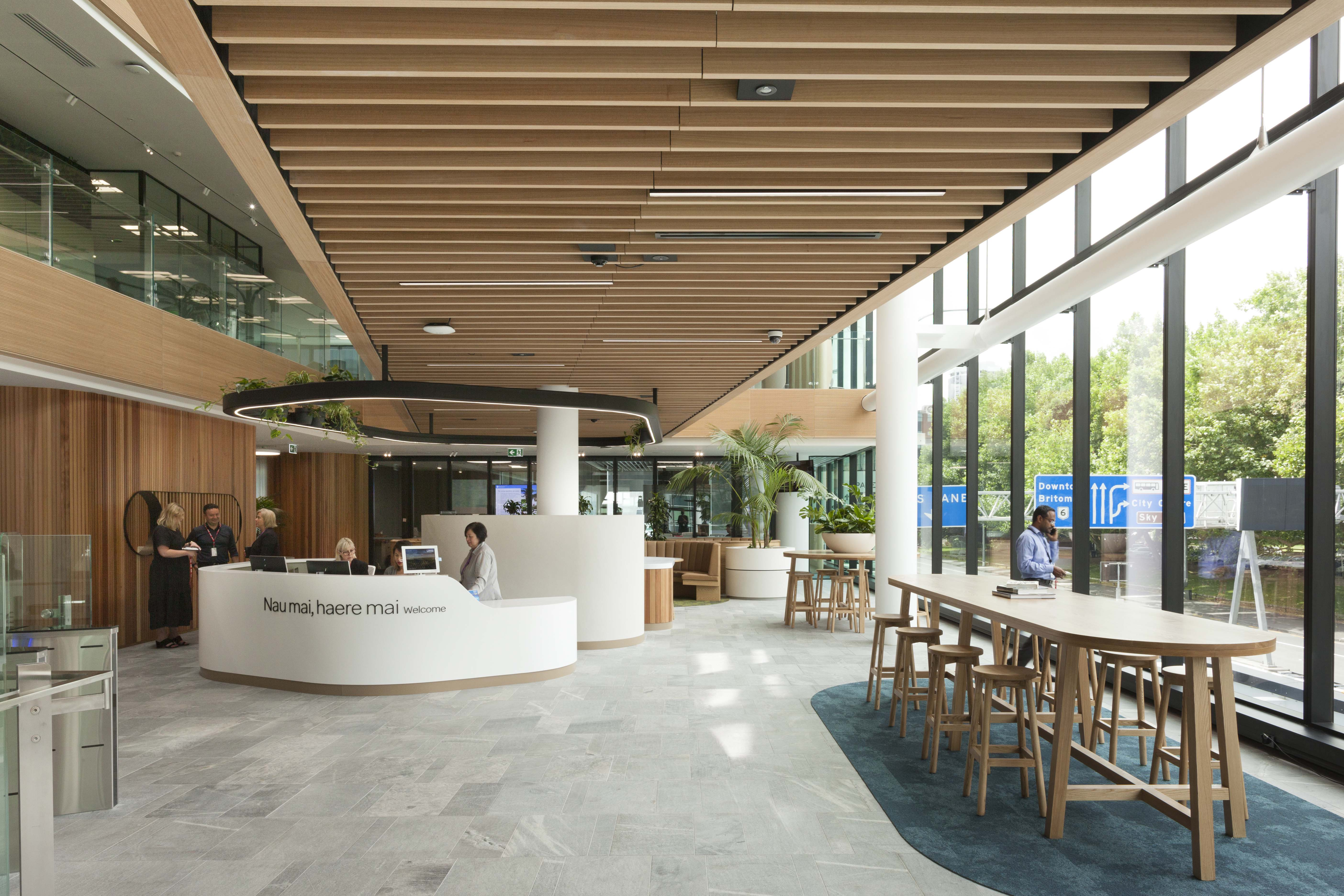 Inviting reception space at Southern Cross Healthcare