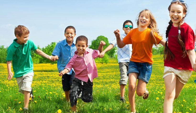 kids running grass teaser