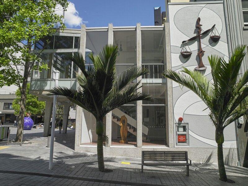 Ellen Melville Centre Freyberg Square facade art