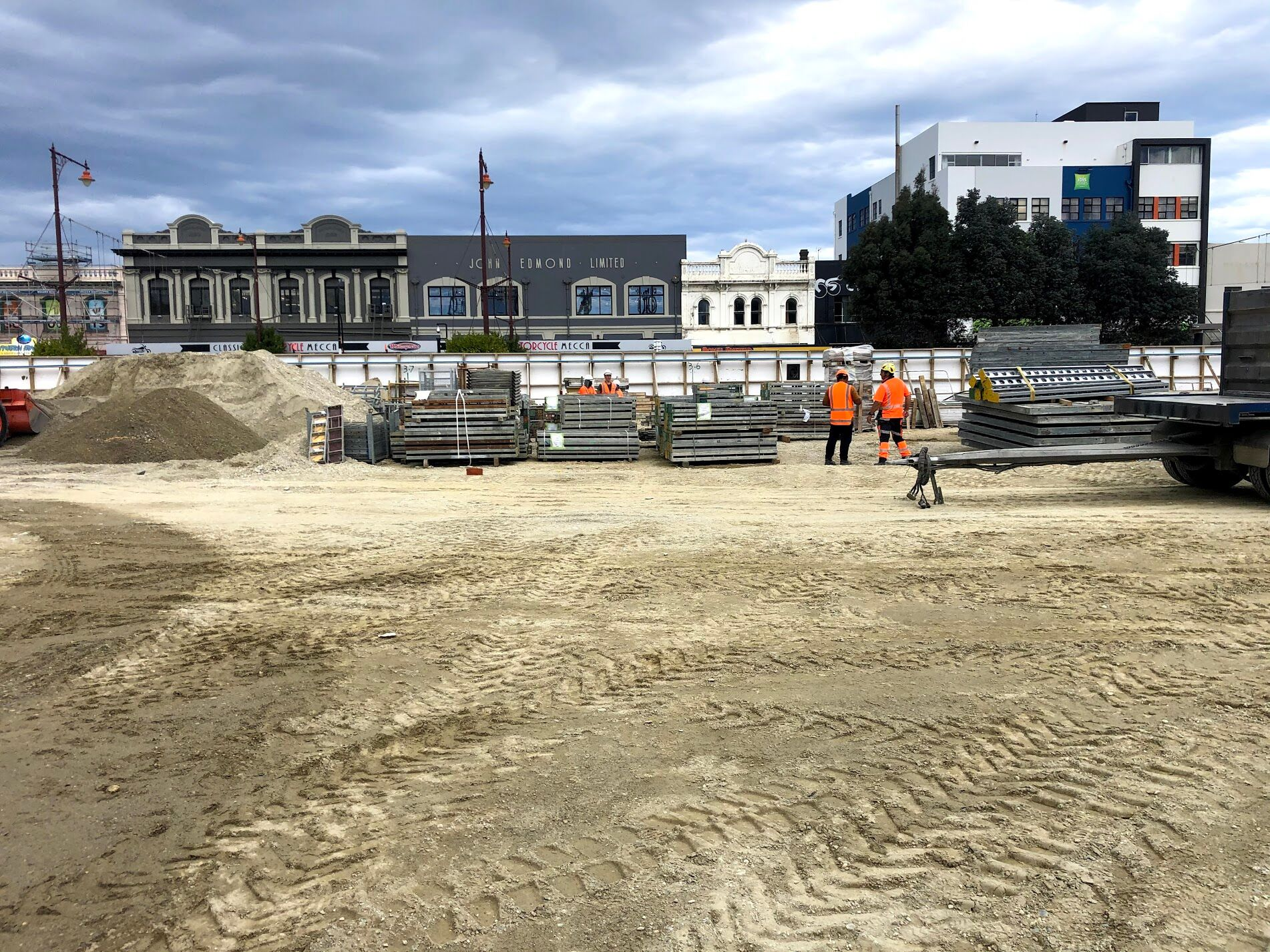 Invercargill city centre under construction