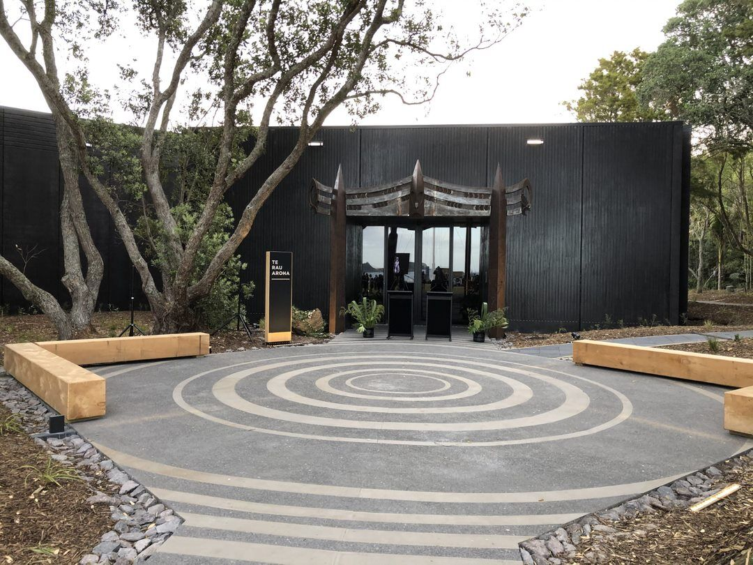 Te Rau Aroha Entrance