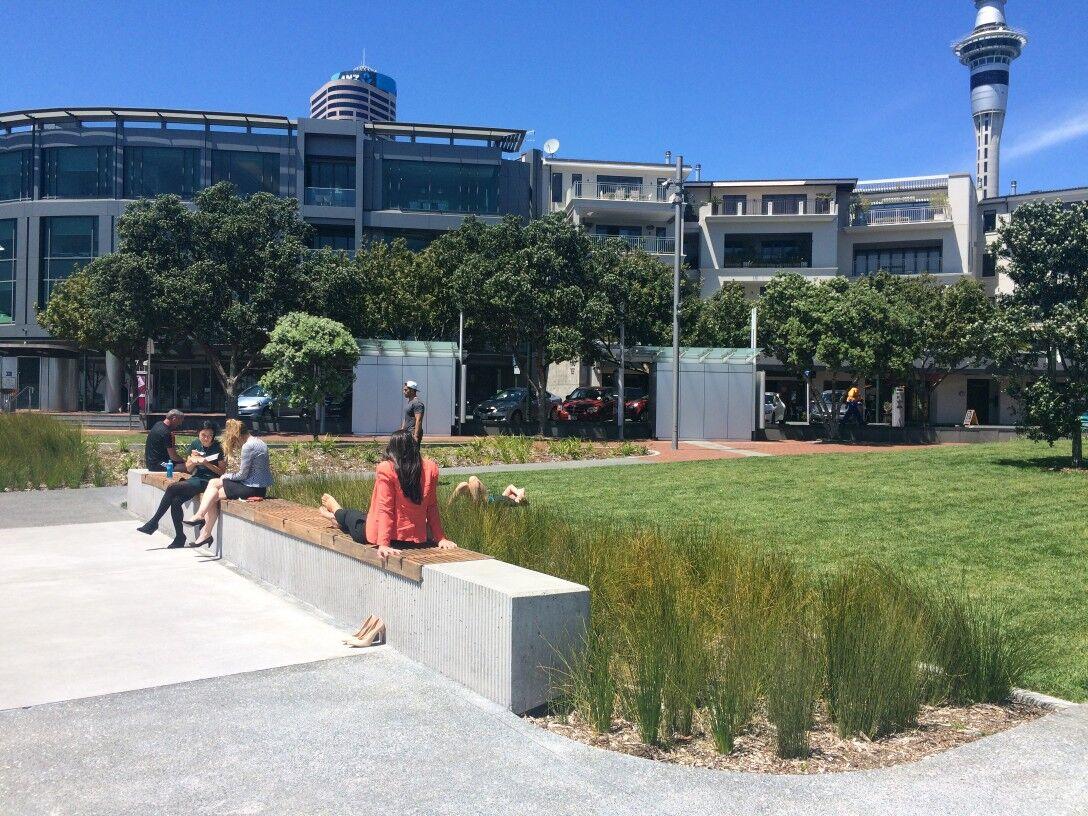 Waitemata Plaza plants