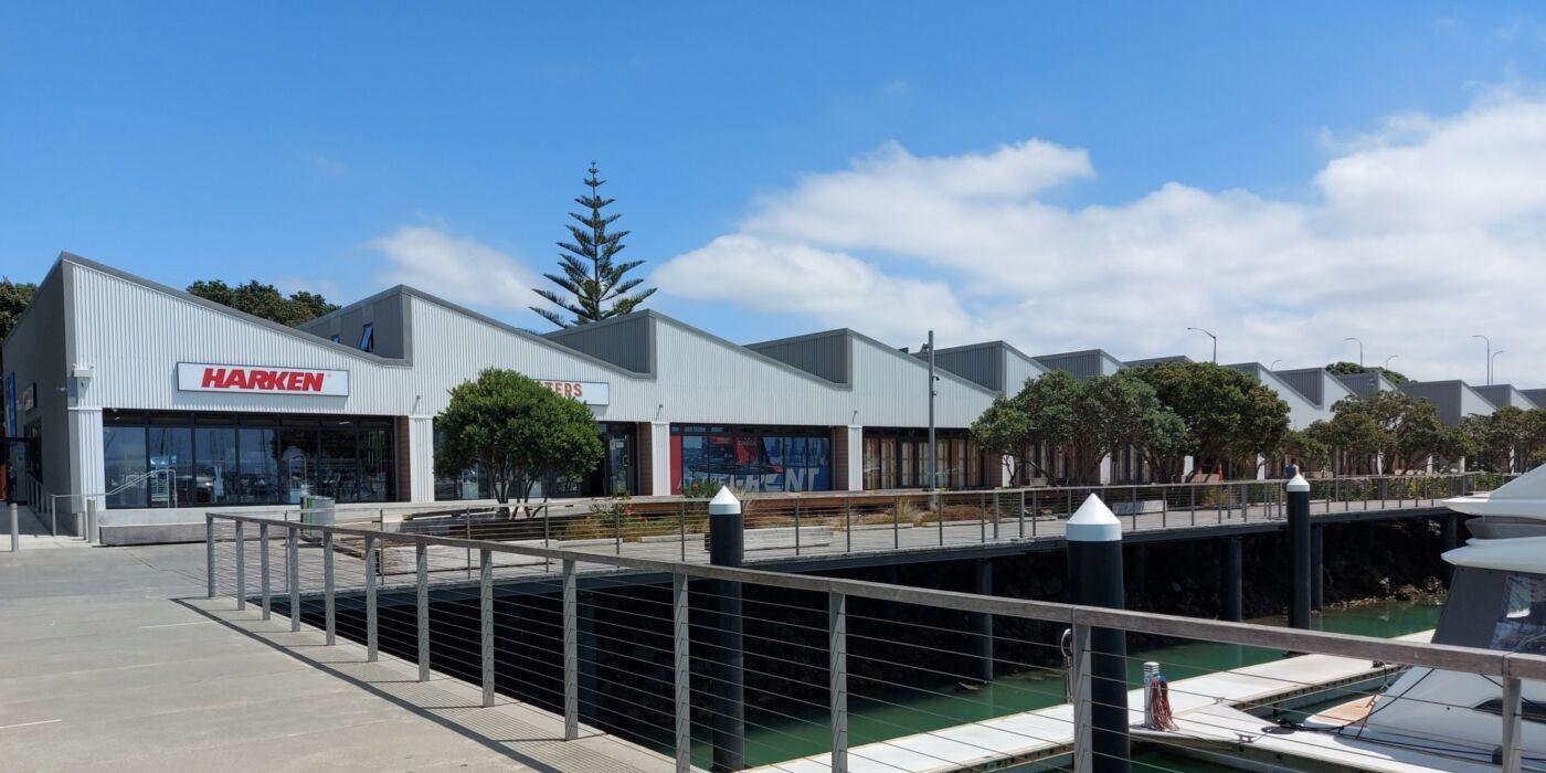 Westhaven Marine Village from pier