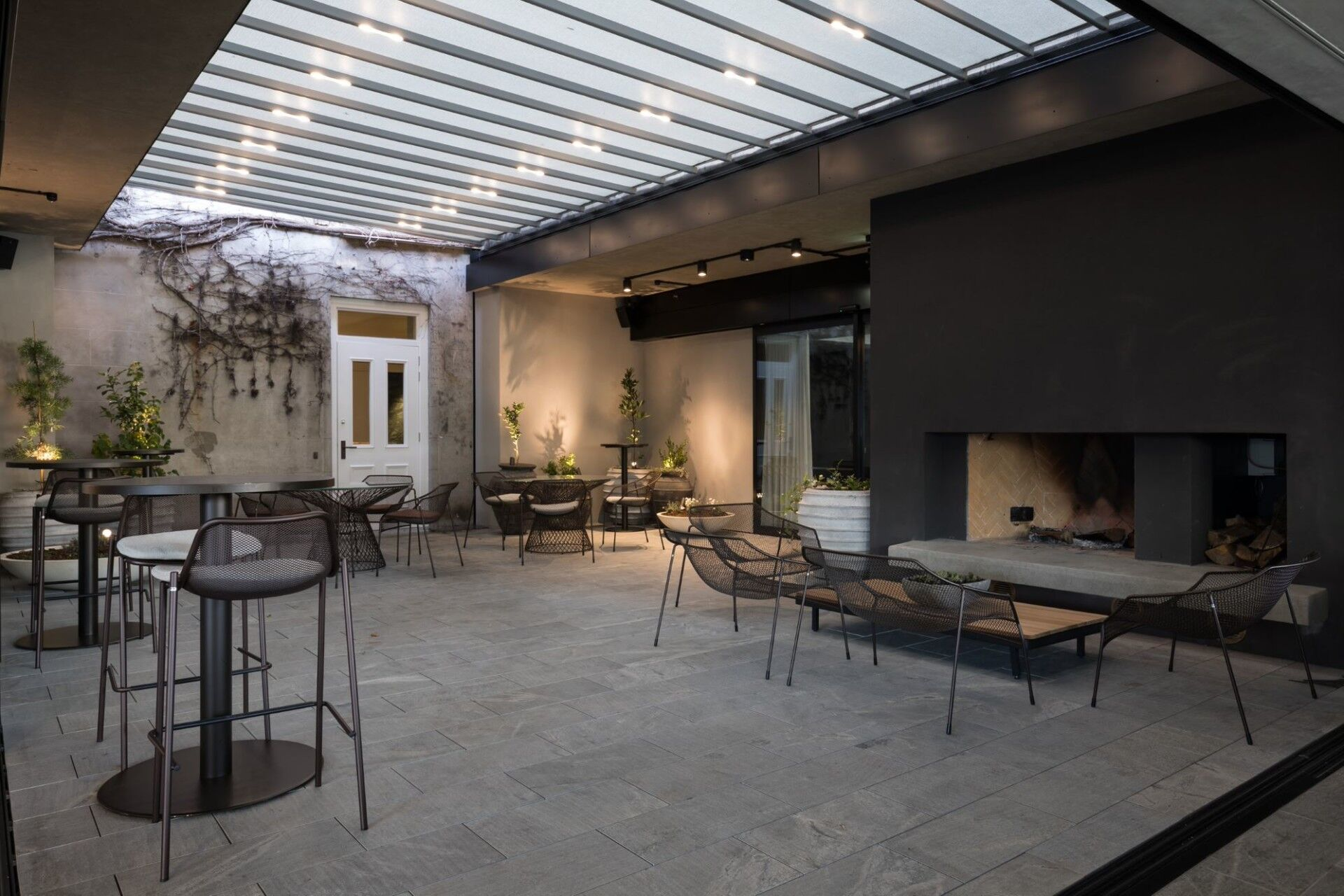bankside extension northern club courtyard