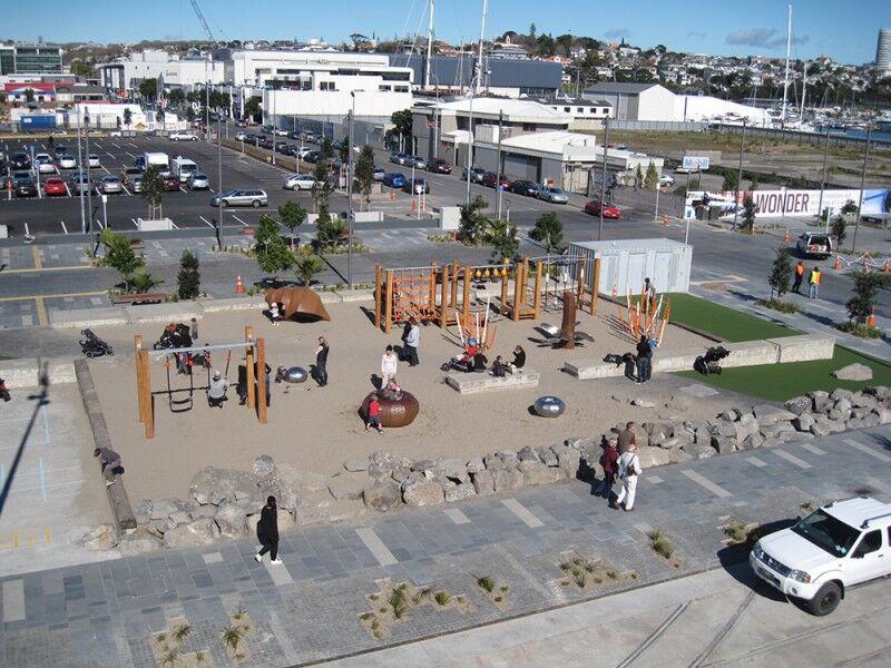 site playground aerial