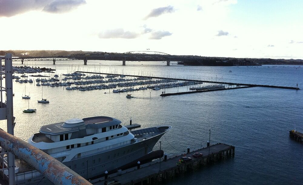 westhaven pier aerial