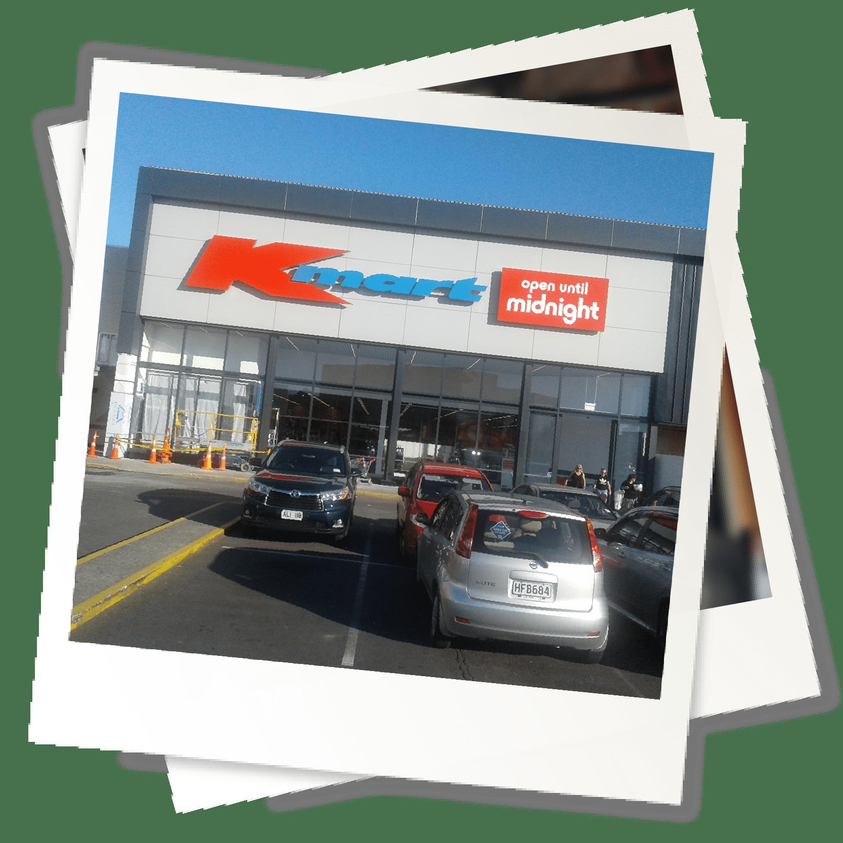 Testimonial Polaroid Kmart