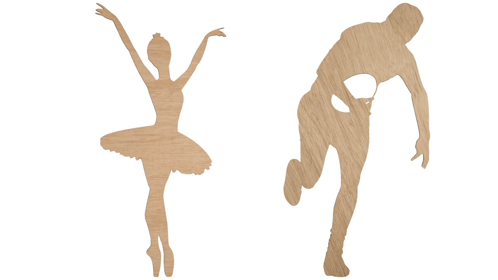 Ballerina and rugby player