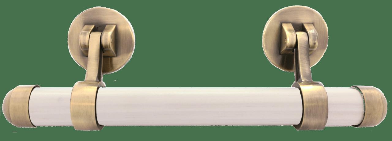 Bronze Zamak drop bar handles