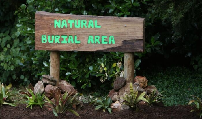 Natural burial area