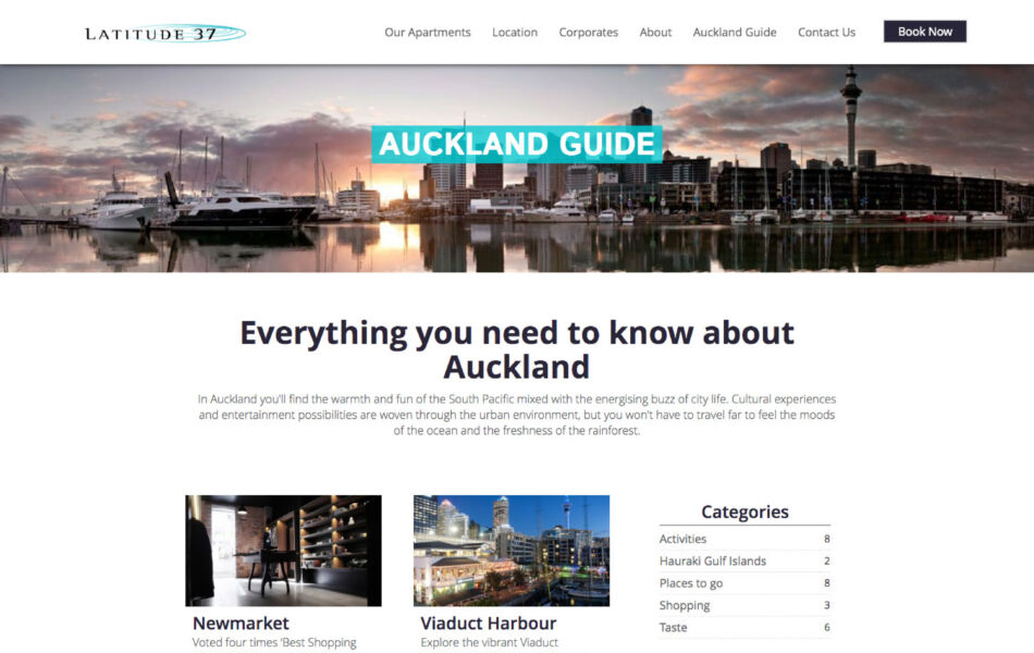 ss latitude website redesign auckland guide dt