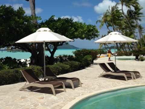 Bora Bora Pearl Beach Resort Venice Sun Umbrella