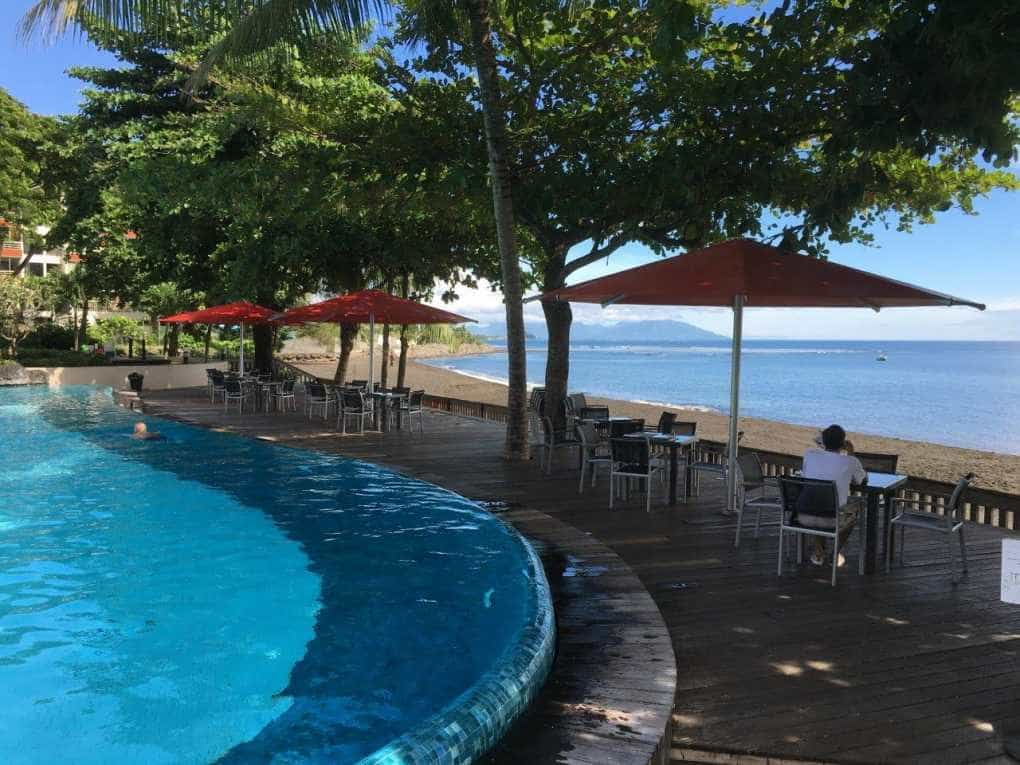 Tahiti Pearl Beach Resort Tempest Outdoor Umbrella