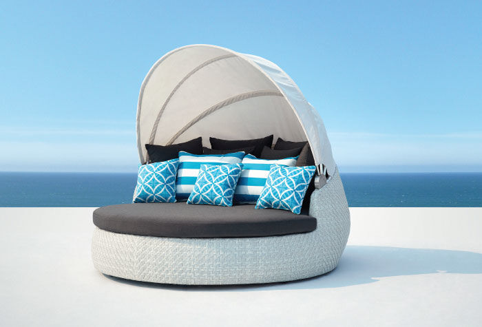 Daybed Rattan Outdoor Furniture