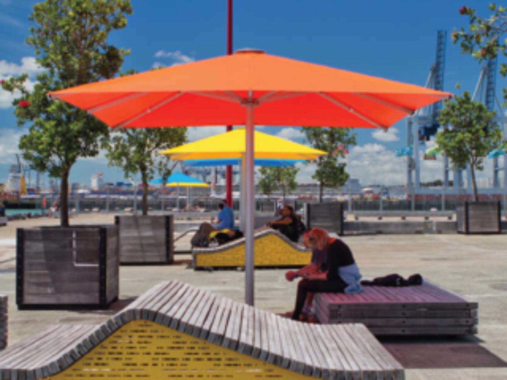 Square Commercial Outdoor Umbrellas NZ