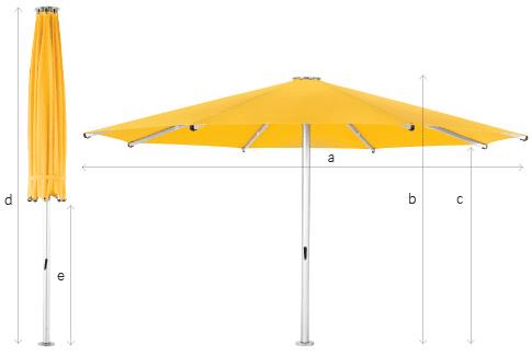 Tempest Commercial Outdoor Umbrella Specs