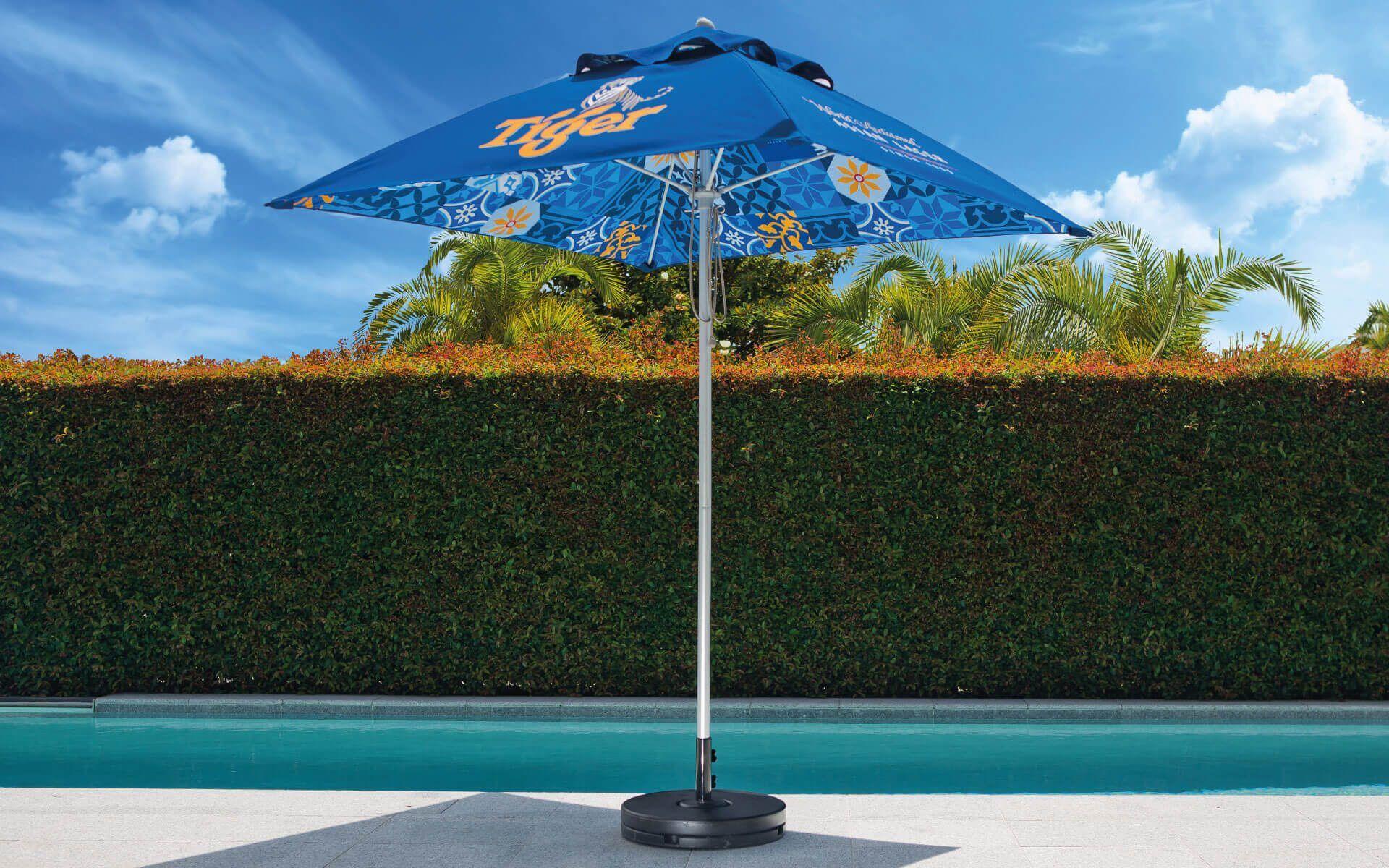 Tiger Branded Outdoor Printed Sun Umbrellas