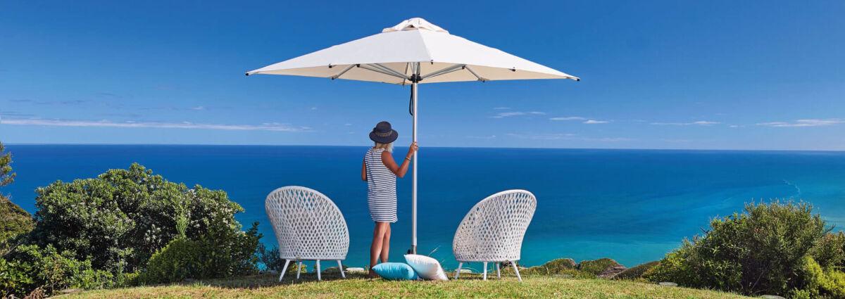 White Square Outdoor Umbrella