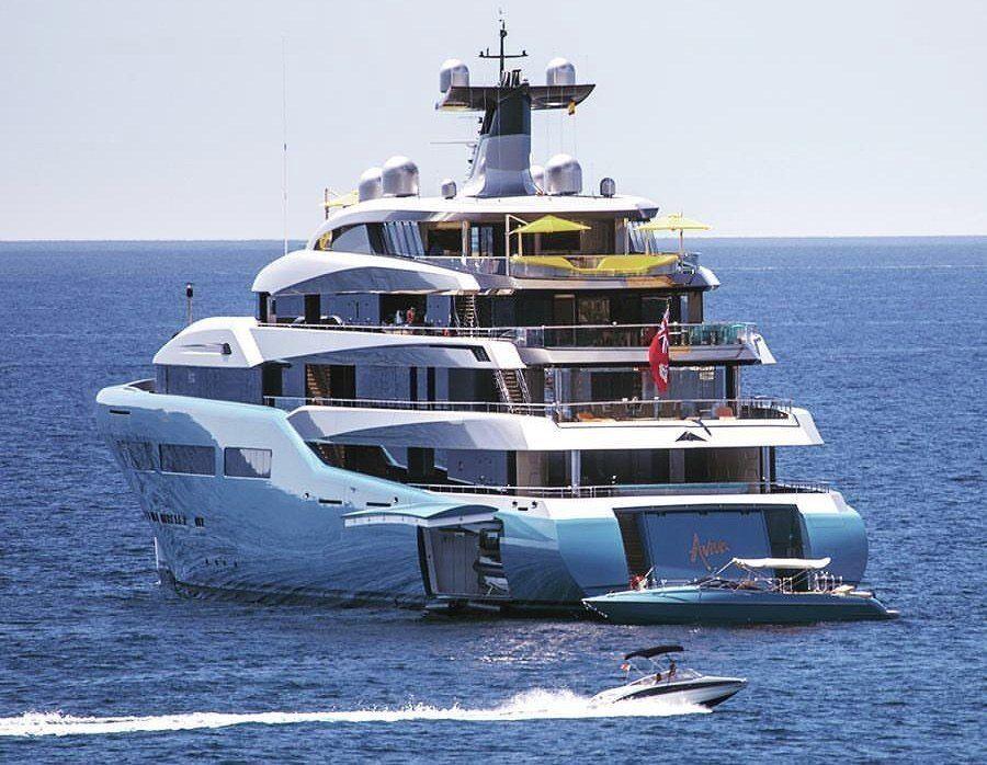 Aviva Superyacht Riviera Cantilever Umbrellas